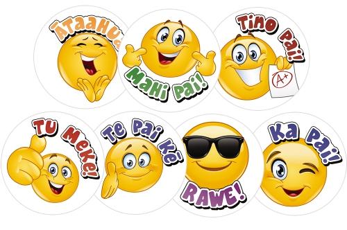 Product: Emojis Te Reo Stickers - Teacher Resource - School