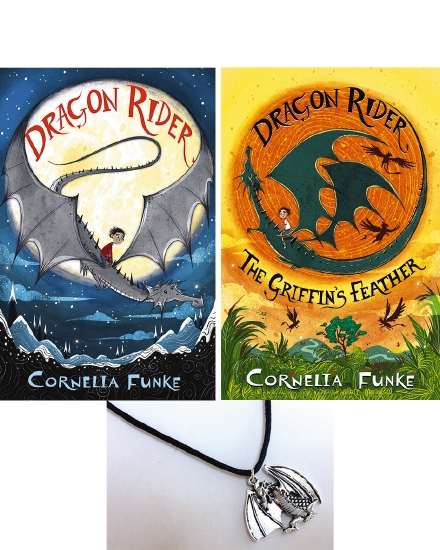 Dragon Rider Griffins Feather and Dragon Necklace