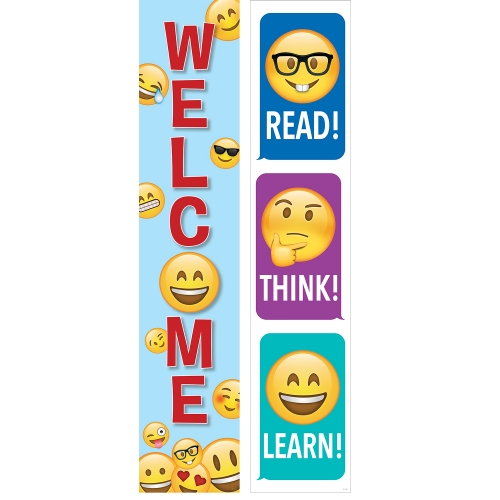 Product: Emoji 2-Sided Banner - Teacher Resource - School