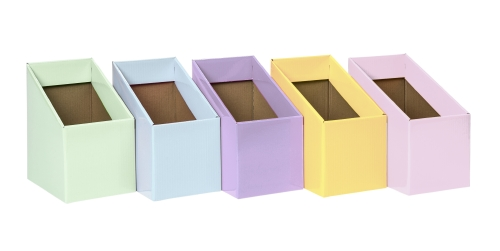 PASTEL BOOK BOXES SET OF 5     - Teacher Resource