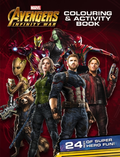 Avengers Infinity War Colouring Activity Book