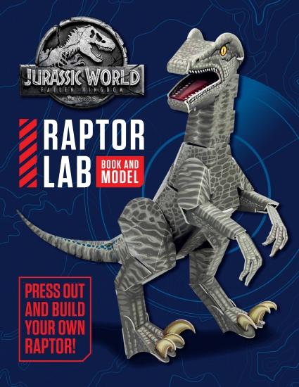 Jurassic World 2: Fallen Kingdom Raptor Lab Book and Model