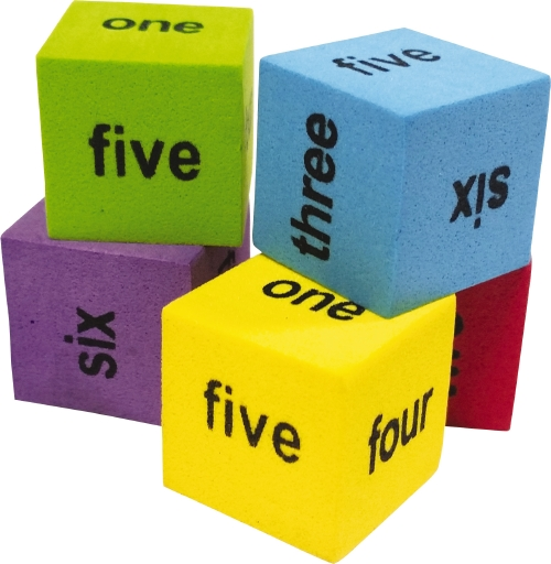 Colourful Number Word Dice                                                                           - Teacher Resource