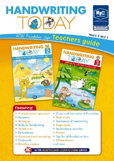 Handwriting Today: NSW Foundation Font Teacher's Guide (Yrs 2 & 3) - Teacher Resource
