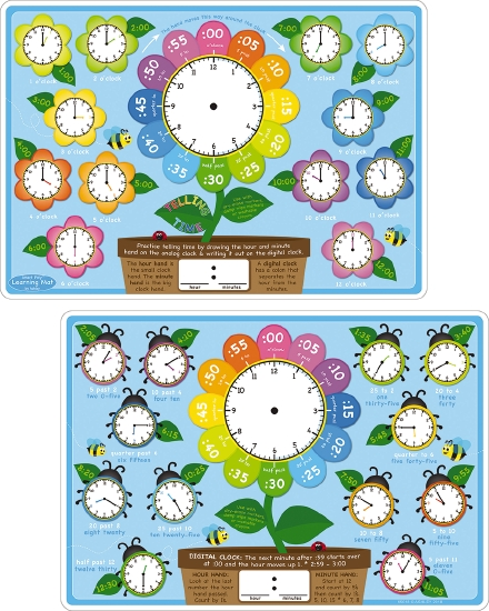 Telling Time Learning Mat