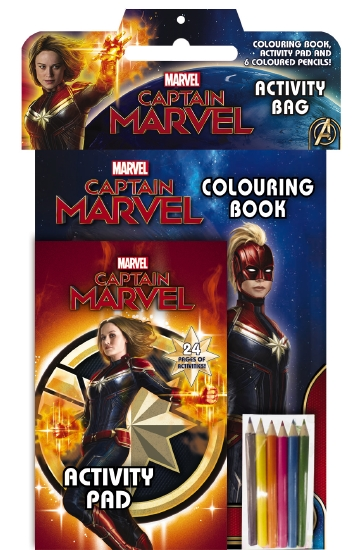 Marvel: Captain Marvel Activity Bag