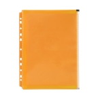 Marbig Binder Wallet with Side Zip Pocket Orange
