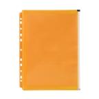 Marbig Binder Wallet with Side Zip Pocket Orange