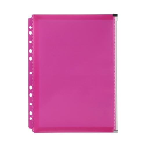 Marbig Binder Wallet with Side Zip Pocket Pink