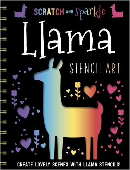 Scratch and Sparkle Llama Stencil Art