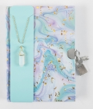 Marble Diary w Stone Necklace