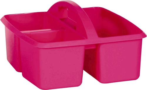 Plastic Storage Caddy - Pink