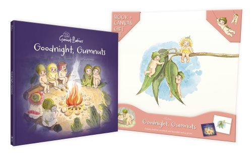 May Gibbs: Goodnight, Gumnuts Book & canvas
