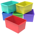 Extra Large Plastic Book Bin - 6 Pack