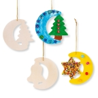 Wooden Christmas Shapes 12-Pack