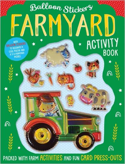 Balloon Stickers Farmyard Activity Book