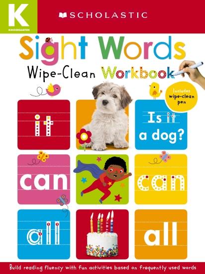 Kindergarten Sight Words Wipe Clean Workbook
